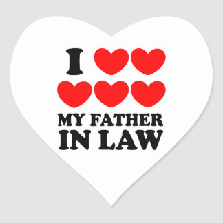I Love My Father In Law Heart Sticker