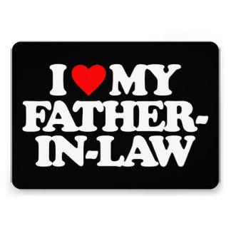 I LOVE MY FATHER-IN-LAW PERSONALIZED INVITE