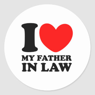 I Love My Father In Law Round Sticker