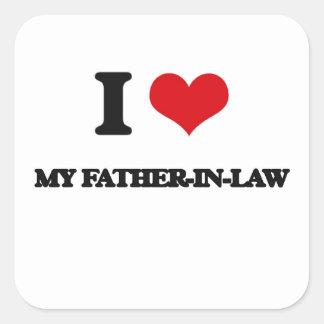 I Love My Father-In-Law Square Sticker