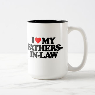 I LOVE MY FATHERS-IN-LAW Two-Tone MUG