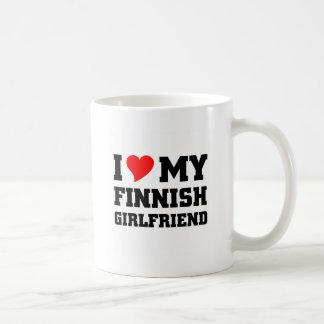 I love my finnish girlfriend basic white mug