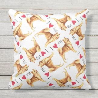 I Love my Finnish Spitz Throw Cushions
