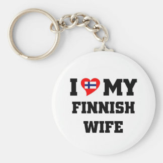 I love my finnish wife keychain