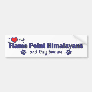 I Love My Flame Point Himalayans (Multiple Cats) Bumper Sticker