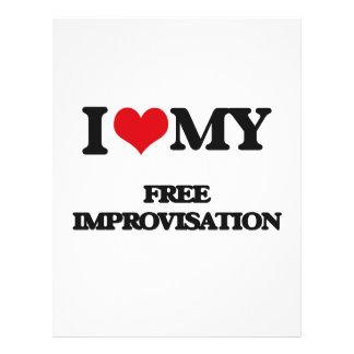 I Love My FREE IMPROVISATION Flyers
