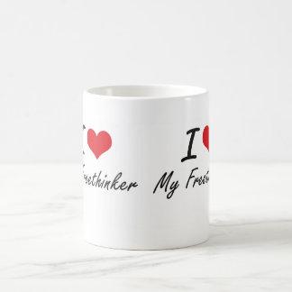 I Love My Freethinker Basic White Mug