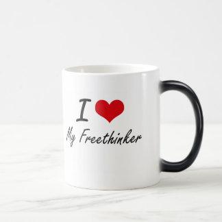 I Love My Freethinker Morphing Mug