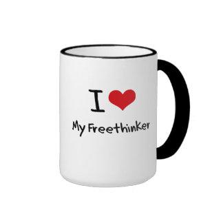 I Love My Freethinker Ringer Mug