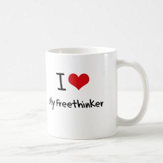 I Love My Freethinker Coffee Mugs