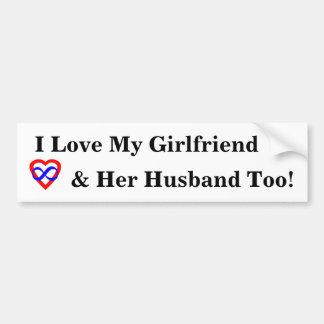 I Love My Girlfriend... Bumper Sticker
