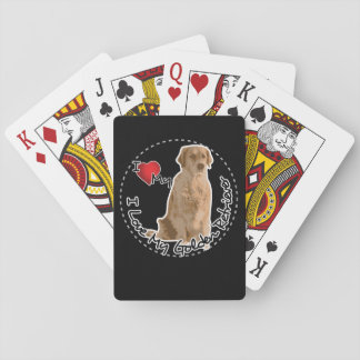 I Love My Golden Retriever Dog Playing Cards