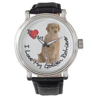 I Love My Golden Retriever Dog Watch