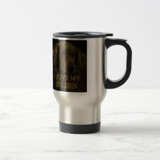 I Love My Golden Stainless Steel Travel Mug