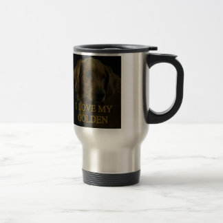 I Love My Golden Travel Mug