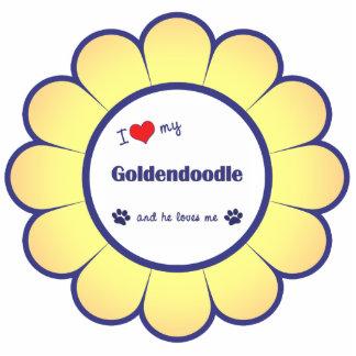 I Love My Goldendoodle (Male Dog) Photo Sculpture Decoration