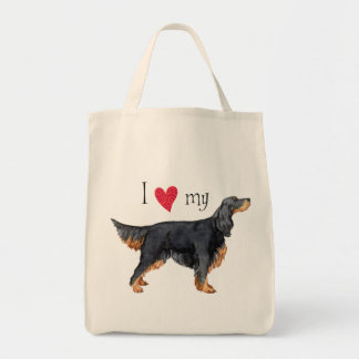 I Love my Gordon Setter Tote Bag