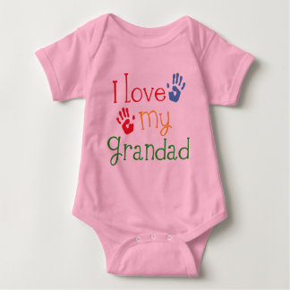 I Love My Grandad (Handprints) Baby Bodysuit