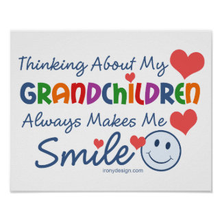 I Love My Grandchildren Poster