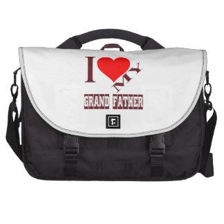 i love my Grandfather. Laptop Messenger Bag