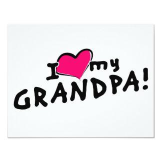 I love my grandpa! 11 cm x 14 cm invitation card