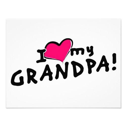 I love my grandpa! personalized invite