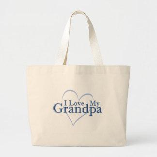 I Love My Grandpa Jumbo Tote Bag