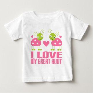 I Love My Great Aunt Ladybug Baby T-Shirt