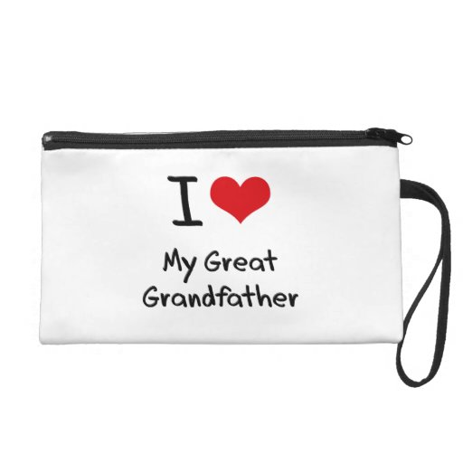 I Love My Great Grandfather Wristlet Purse