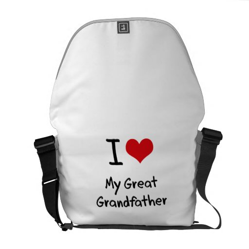 I Love My Great Grandfather Messenger Bags