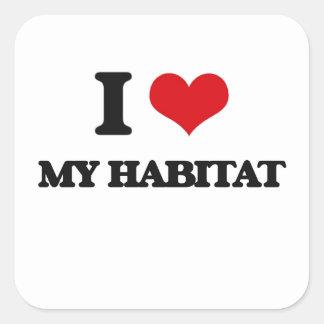 I Love My Habitat Square Sticker
