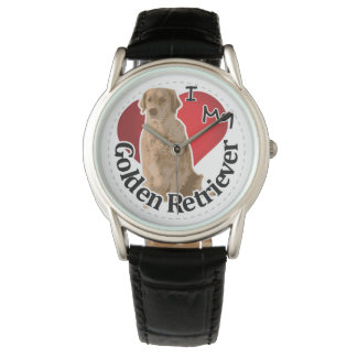 I Love My Happy Adorable Funny & Cute Golden Retri Watch