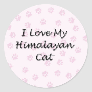 I Love My Himalayan Cat Classic Round Sticker