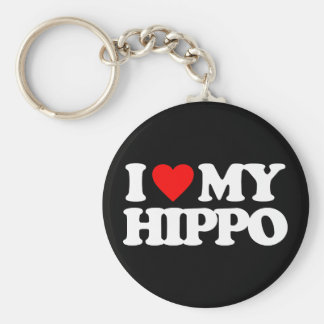 I LOVE MY HIPPO KEY RING