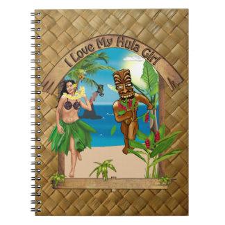 I Love My Hula Girl Tiki  Notebook