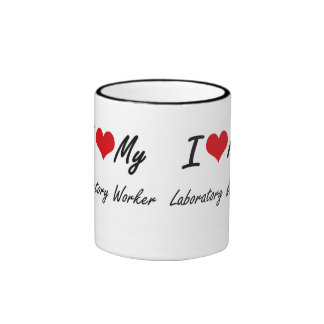 I love my Laboratory Worker Ringer Mug