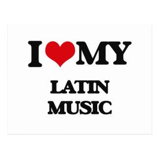 I Love My LATIN MUSIC Postcards