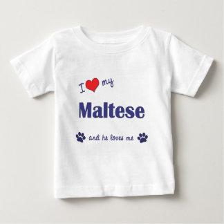 I Love My Maltese (Male Dog) Baby T-Shirt