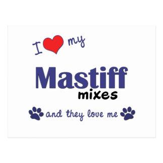 I Love My Mastiff Mixes (Multiple Dogs) Postcard