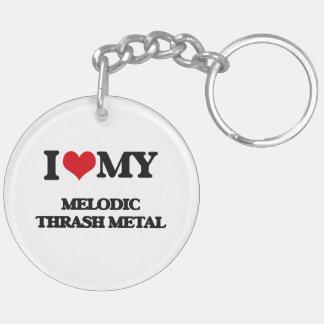 I Love My MELODIC THRASH METAL Acrylic Keychain
