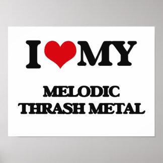 I Love My MELODIC THRASH METAL Poster