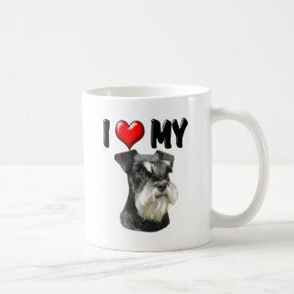 I Love My Miniature Schnauzer Coffee Mug