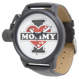 I Love My Mommy Heartbeats Watch