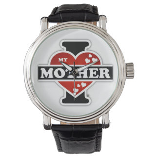I Love My Mother Heartbeats Watch
