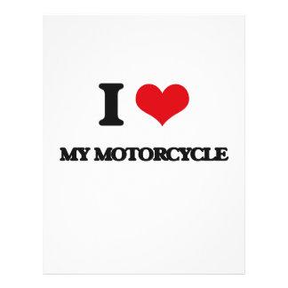 I Love My Motorcycle Flyer Design
