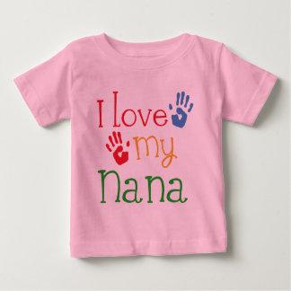 I Love My Nana Handprints Baby T-Shirt