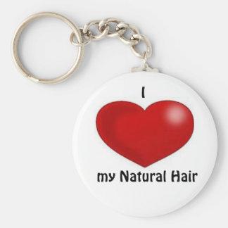I love my natural hair key ring