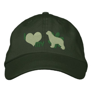I Love my Newfoundland Embroidered Hat Green