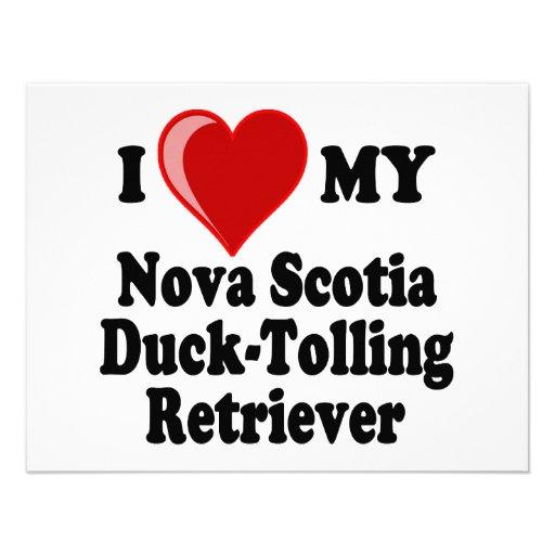 I Love My Nova Scotia Duck-Tolling Retriever Invitations