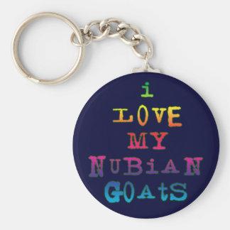 I Love My Nubian Goats Key Chain